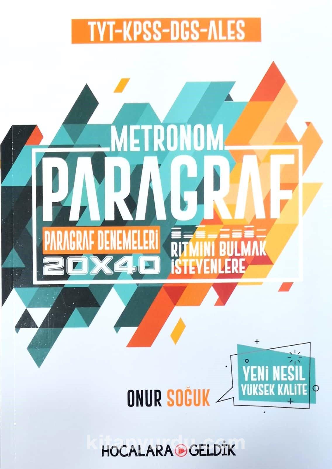 Paragraf Metronom 20x40 Paragraf Denemeleri - Onur Soğuk pdf epub
