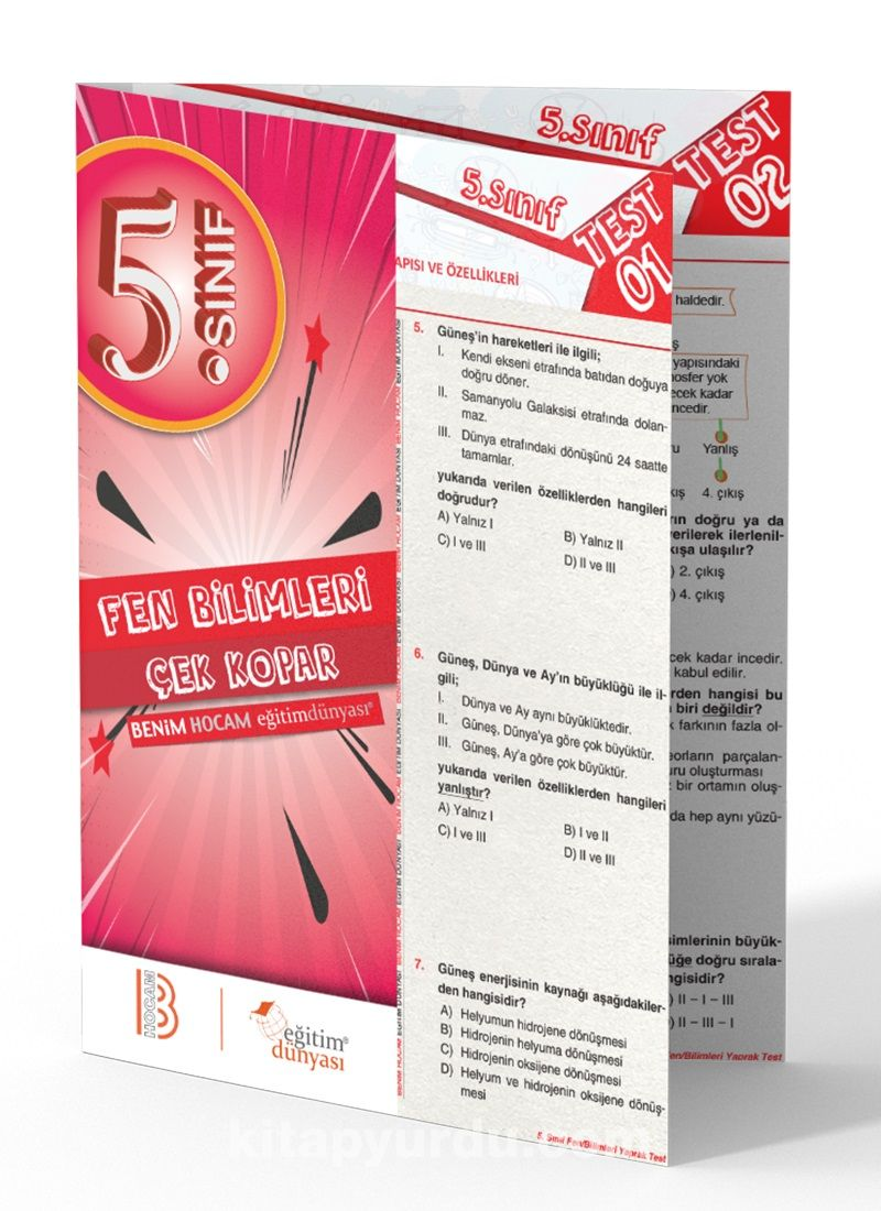 5. Sınıf Fen Bilimleri Çek Kopar Yaprak Test - Kollektif pdf epub