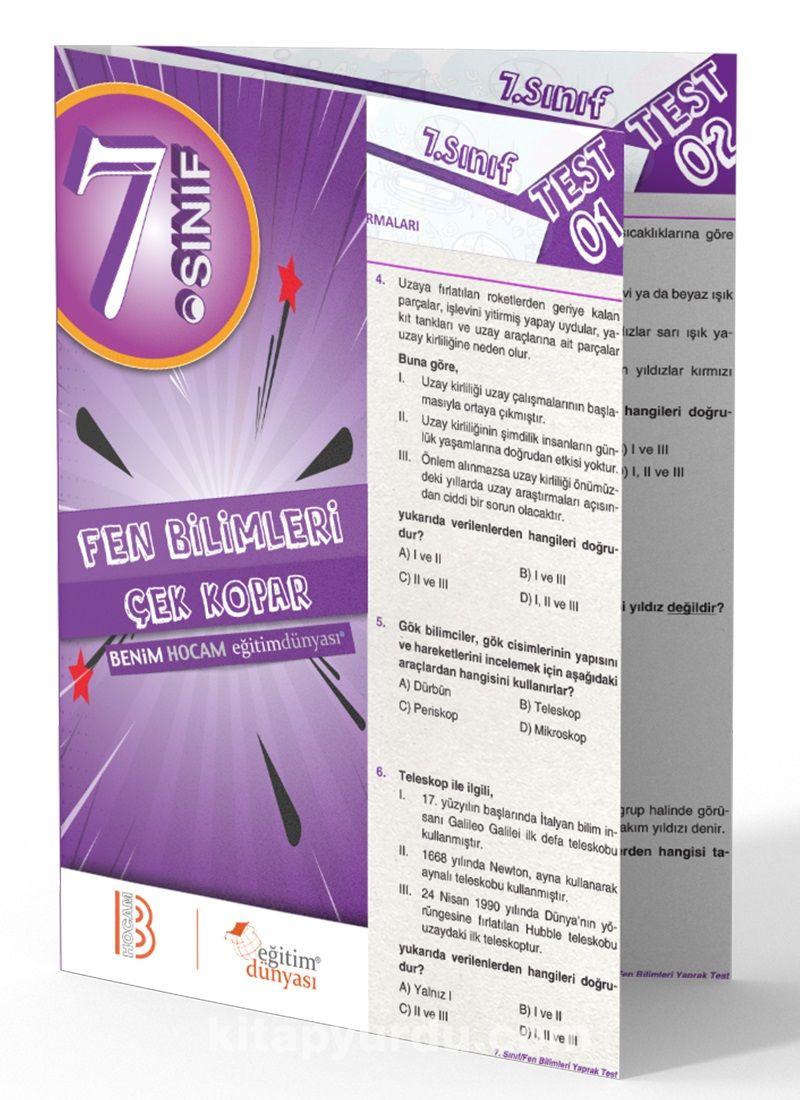 7. Sınıf Fen Bilimleri Çek Kopar Yaprak Test - Kollektif pdf epub