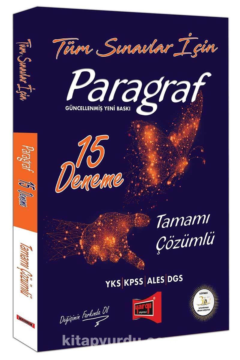 Tüm Sınavlar İçin Paragraf Tamamı Çözümlü 15 Deneme - Kollektif pdf epub