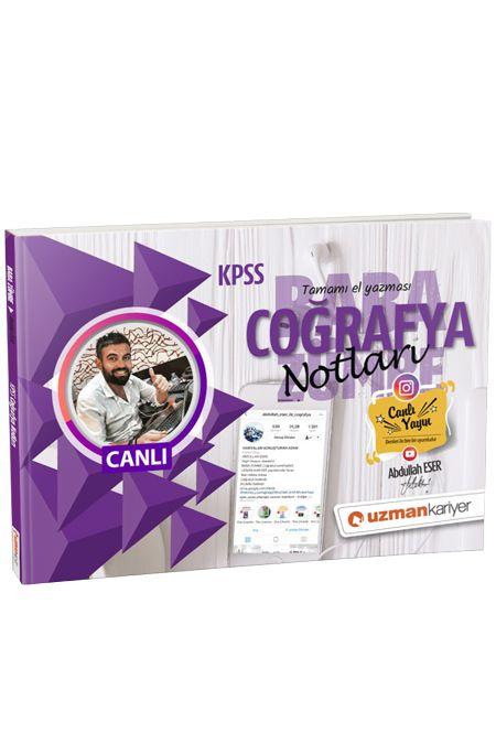 2019 Kpss Coğrafya Canlı Ders Notları - Abdullah Eser pdf epub