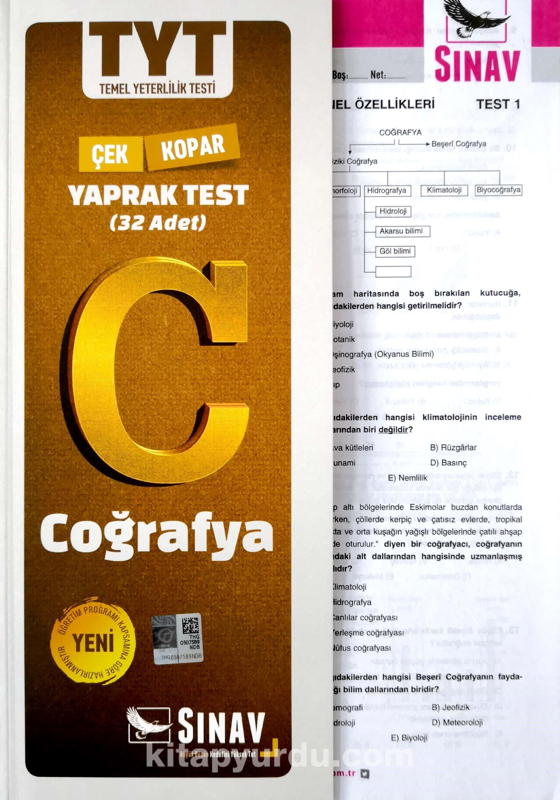 TYT Coğrafya Çek Kopar Yaprak Test - Kollektif pdf epub