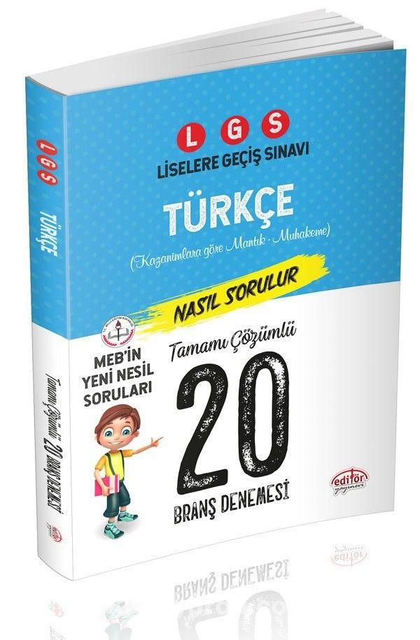 LGS Türkçe 20 Branş Denemesi Nasıl Çözülür - Kollektif pdf epub