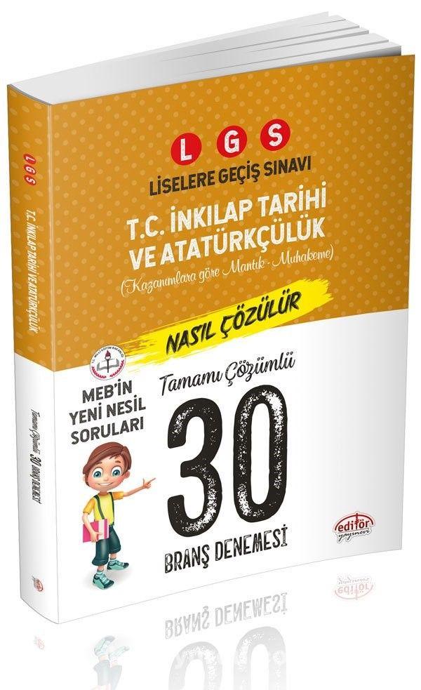 LGS T.C. İnkılap Tarihi ve Atatürkçülük 30 Branş Denemesi Nasıl Çözülür - Kollektif pdf epub