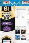 8. Sınıf İngilizce Konu Özetli Yaprak Test
