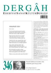 Dergah Edebiyat Sanat Kültür Dergisi Sayı:346 Aralık 2018