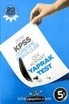 KPSS Öğrenme Psikolojisi Çek Kopar Yaprak Test