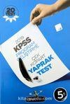 KPSS Program Geliştirme Çek Kopar Yaprak Test