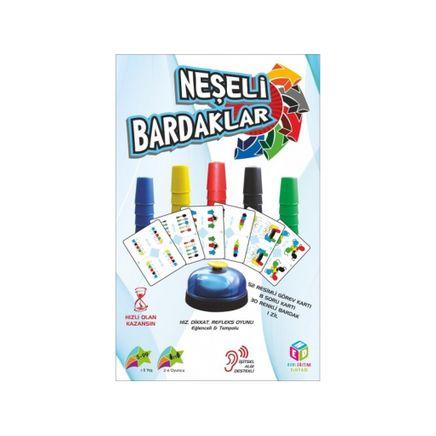 Neşeli Pratik Bardaklar Oyunu Hızlı Bardaklar Akıl ve Zeka Oyunları(040032)