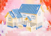 Montessori Ahşap Zeka Oyunları / w-3D Puzzle- Villa C