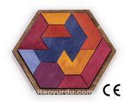 Montessori Ahşap Zeka Oyunları / w-Hexagon 14