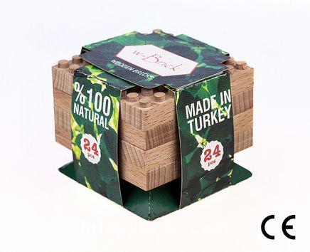 Montessori Ahşap Blok w- Brick 24