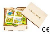 Montessori Ahşap Zeka Oyunları w-Puzzle Cube C Hayvanları Tanıyalım 2