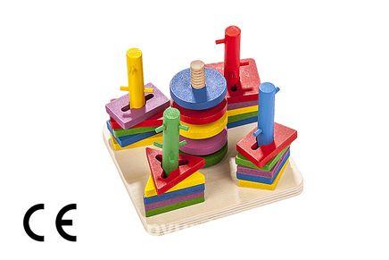 Montessori Ahşap Zeka Oyunları w-Geometric Bolt