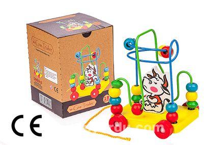 Montessori Ahşap Zeka Oyunları / w-Cow Trailer