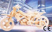 Montessori Ahşap Zeka Oyunları / w-3D Puzzle- Cross Motorcycle