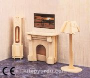 Montessori Ahşap Zeka Oyunları / w-3D Puzzle- Living Room
