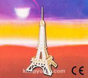 Montessori Ahşap Zeka Oyunları / w-3D Puzzle-Eiffel Tower