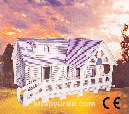 Montessori Ahşap Zeka Oyunları / w-3D Puzzle- Villa A