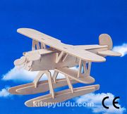 Montessori Ahşap Zeka Oyunları / w-3D Puzzle-Heinkel He 51