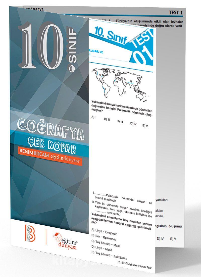 10. Sınıf Coğrafya Çek Kopar Yaprak Test - Kollektif pdf epub