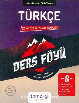 8. Sınıf Türkçe Konu Özetli Soru Bankası - Kollektif pdf epub