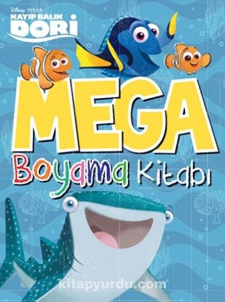 Kayıp Balık Dori Mega Boyama Kitabı