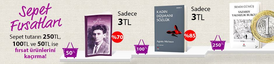 """50TL ve Üzeri Alışverişinize """"2019 Franz Kafka Ajandası (Küçük Boy)"""" Sadece 3TL"""