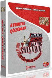 2013 KPSS 2001-2012 Genel Yetenek Genel Kültür Çıkmış Sorular ve Çözümleri