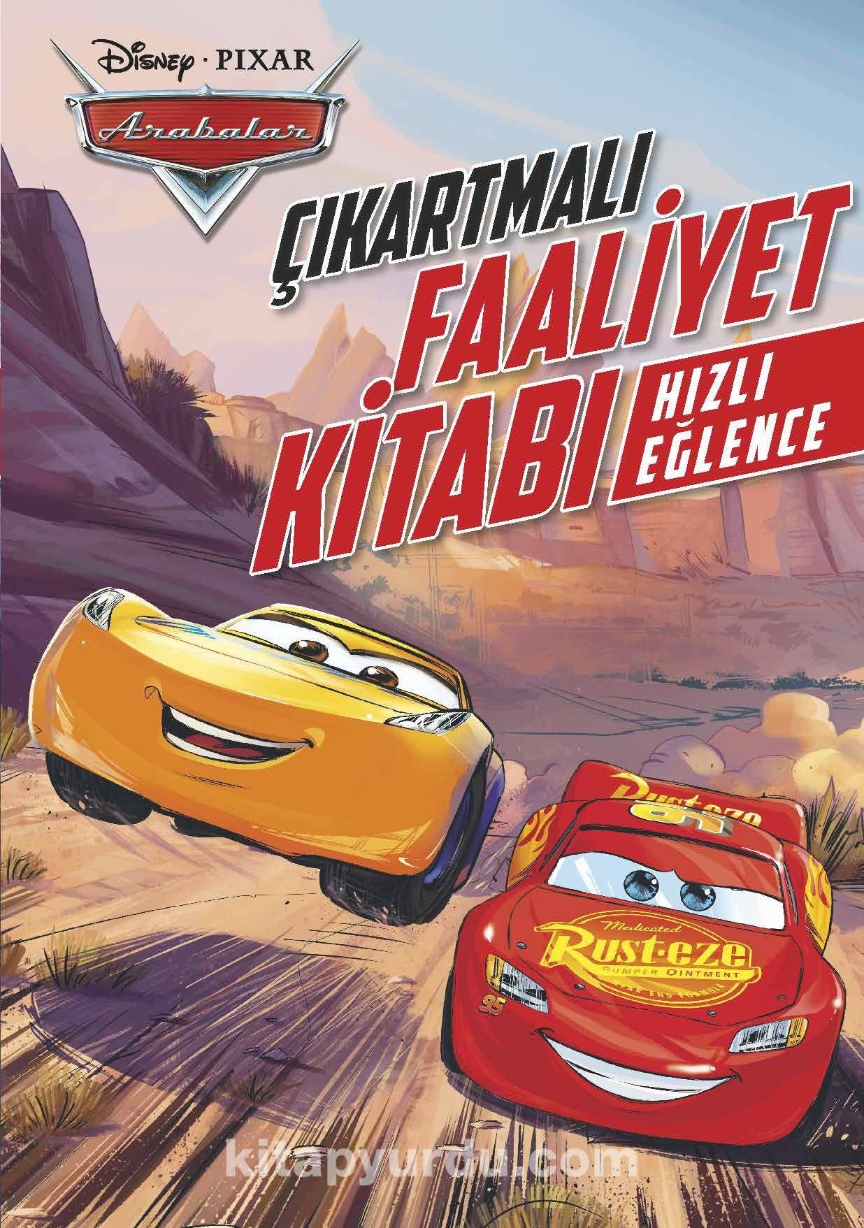 Disney Arabalar Hızlı Eğlence çıkartmalı Boyama Kitabı Kollektif