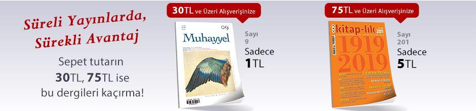 """30TL ve Üzeri Alışverişinize """"Muhayyel Dergisi Sayı:9 Ocak 2019"""" Sadece 1TL"""