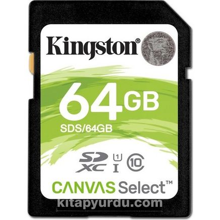 Kingston 64Gb Sdxc Canvas Select 80R Cl10 Uhs-I Card Sds/64Gb