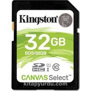 Kingston 32Gb Sdhc Canvas Select 80R Cl10 Uhs-I Card Sds/32Gb
