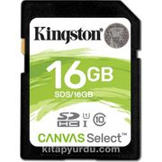 Kingston 16Gb Sdhc Canvas Select 80R Cl10 Uhs-I Card Sds/16Gb
