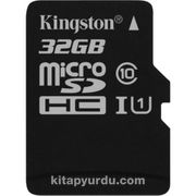 Kingston 32Gb Mıcrosdhc Canvas Select 80R Cl10 Uhs-I Card + Sd Adapter  Sdcs/32Gb