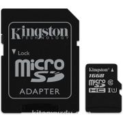 Kingston 16Gb Mıcrosdhc Canvas Select 80R Cl10 Uhs-I Card + Sd Adapter  Sdcs/16Gb
