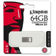 Kingston 64Gb Dtmıcro Usb 3.1/3.0  Metal (Okuma 100Mb/S) Dtmc3/64Gb