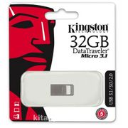 Kingston 32Gb Dtmicro Usb 3.1/3.0  Metal (Okuma 100Mb/S) Dtmc3/32Gb