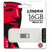 Kingston 16Gb Dtmicro Usb 3.1/3.0 Metal (Okuma 100Mb/S) Dtmc3/16Gb