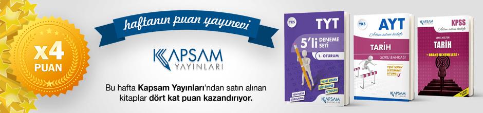 Kapsam Yayınları'ndan alınan ürünün puanının 4 katı ekstradan hesabınıza yüklenecektir.