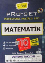 7. Sınıf Pro-Set Matematik Denemeleri 10 Deneme