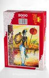 Testili Afrikalı Kadın Zaire Ahşap Puzzle 2000 Parça (UK56-MM)