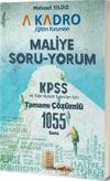 KPSS Tamamı Çözümlü 1055 Soru Maliye Soru-Yorum