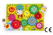 Montessori Ahşap Zeka Oyunları / w-Animal Wheel