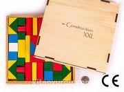 Montessori Bookinzi Ahşap Zeka Oyunları / w-Construction (XXL)