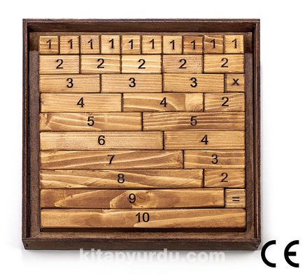 Montessori Ahşap Zeka Oyunları / w-Ten Maths