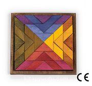 Montessori Ahşap Zeka Oyunları / w-Square 14