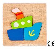 Montessori Ahşap Zeka Oyunları / w-Basic Parts SHIP