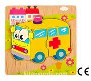 Montessori Ahşap Zeka Oyunları / w-Basic Parts Ambulance
