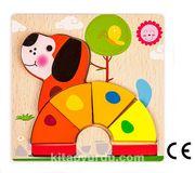 Montessori Ahşap Zeka Oyunları / w-Basic Parts DOG
